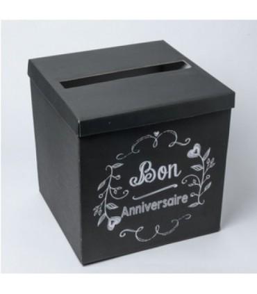 Urne carton bon anniversaire