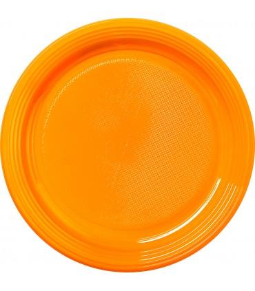 Assiette ronde dessert en couleur