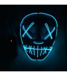Masque néon bleu