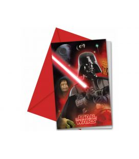 Carte invitation star wars