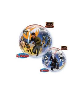 Ballon mylar rond star wars