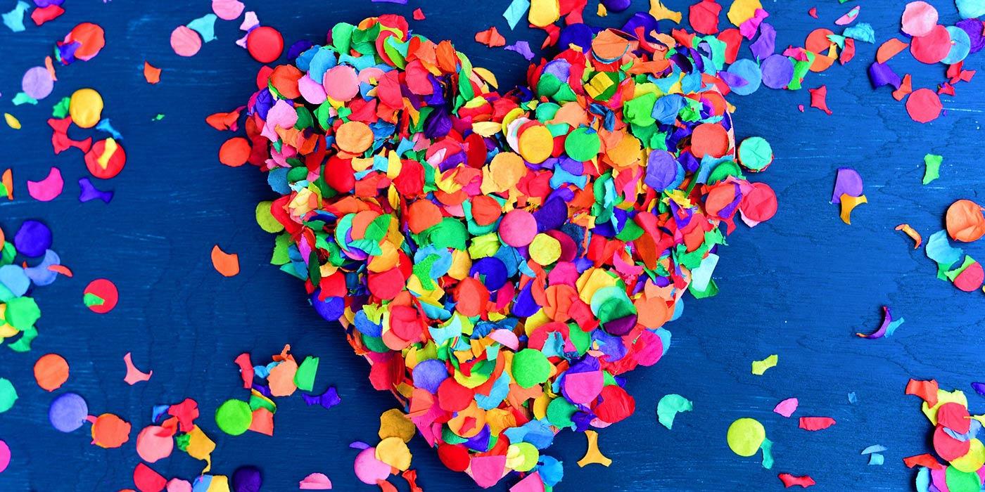 Confettis coeurs